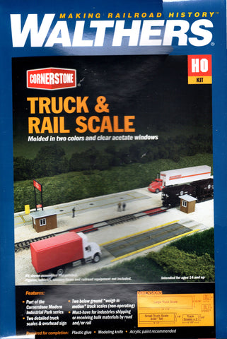 HO Scale Walthers Cornerstone 933-4068 Truck & Rail Scale Building Kit