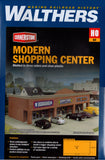 HO Scale Walthers Cornerstone 933-4115 Modern Shopping Center I Building Kit