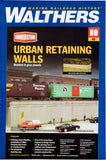 HO Scale Walthers Cornerstone 933-4562 Urban Retaining Walls Kit