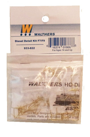 HO Scale Walthers Cornerstone 933-822 Diesel Dress-Up Kit for Athearn F7 A&B