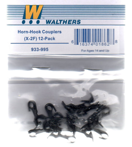 HO Scale Walthers Cornerstone 933-995 X-F2 Horn-Hook Couplers 12 pack