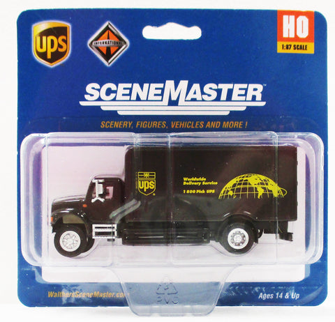 HO Scale Walthers Scene Master 949-11193 UPS United Parcel Service International 4900 Single Axle Box Van