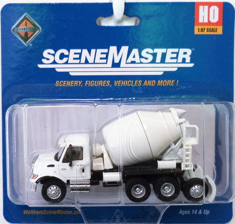 HO Scale Walthers SceneMaster 949-11678 International 7600 3-Axle Cement Mixer