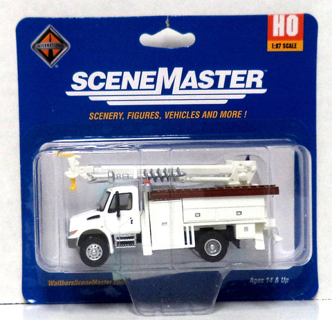 HO Scale Walthers SceneMaster 949-11733 International 4300 MOW Truck w/Drill