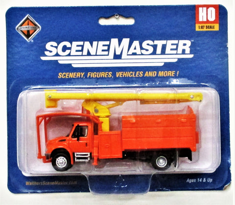 HO Scale Walthers SceneMaster 949-11744 Orange International 4300 w/Tree Trimmer Body