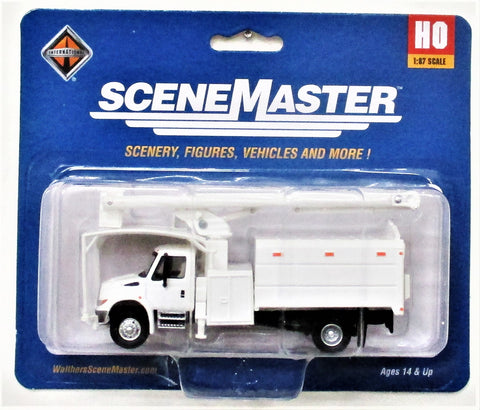 HO Scale Walthers SceneMaster 949-11745 White International 4300 w/Tree Trimmer Body