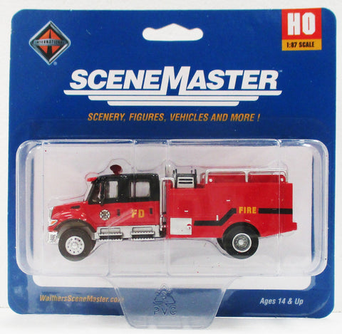 HO Scale Walthers SceneMaster 949-11920 International 7600 Crew-Cab Brush Fire Truck