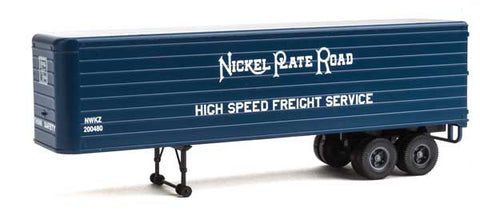 HO Scale Walthers SceneMaster 949-2423 Nickel Plate Road Fluted-Side 35' Trailers