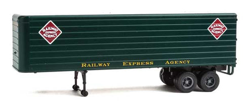 HO Scale Walthers SceneMaster 949-2425 REA Railway Express Agency Fluted-Side 35' Trailers