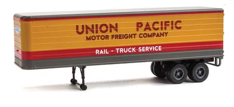 HO Scale Walthers SceneMaster 949-2427 UP Union Pacific Fluted-Side 35' Trailers