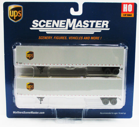 HO Scale Walthers SceneMaster 949-2459 UPS United Parcel Service w/Shield Logo 53' Stoughton Trailers