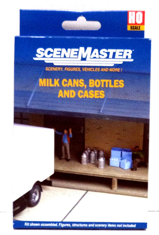 HO Scale Walthers SceneMaster 949-4136 Milk Cans, Bottles & Cases