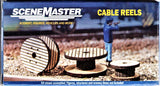 HO Scale Walthers SceneMaster 949-4155 Laser-Cut Wood Cable Reels Kit