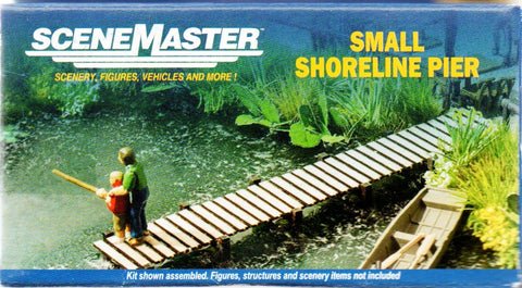 HO Scale Walthers SceneMaster 949-4156 Small Shoreline Pier Laser-Cut Wood Kit