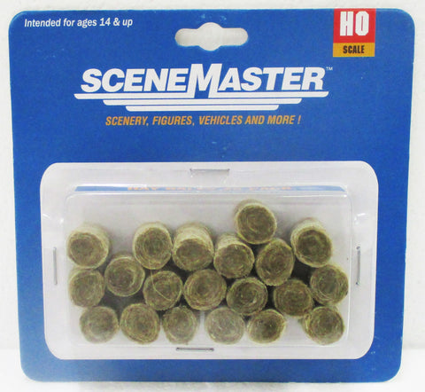 HO Scale Walthers Scene Master 949-4157 Round Hay Bale (20) pcs