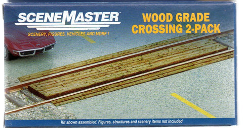 HO Scale Walthers SceneMaster 949-4158 Laser-Cut Wood Grade Crossing Kit (1) pcs
