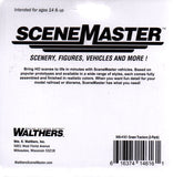 HO Scale Walthers Scene Master 949-4161 Green Farm Tractor 2-Pack