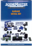 HO Scale Walthers SceneMaster 949-4167 Garage Detail 45 Piece Set