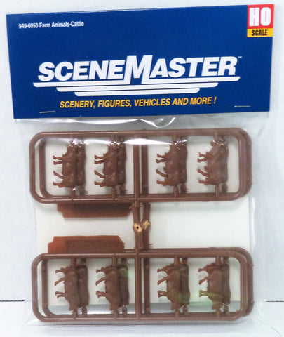 HO Scale Walthers SceneMaster 949-6050 Beef Cattle (16) pcs