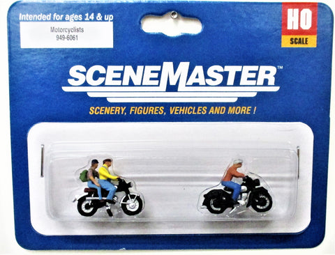 HO Scale Walthers SceneMaster  949-6061 Motorcyclists Figure Set  (5) pcs