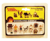HO Scale Woodland Scenics A1929 Backyard Barbeque Figures (9) pcs