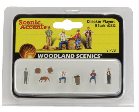 N Scale Woodland Scenics A2132 Checker Players