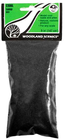 Woodland Scenics B93 Lump Coal 10.8 cu in (176 cu cm) Bag