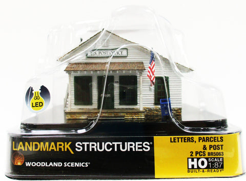 HO Scale Woodland Scenics BR5063 Letters, Parcels & Post Office Built Building
