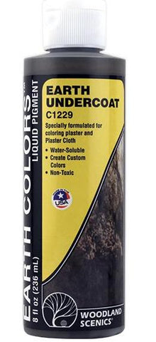 Woodland Scenics C1229 Earth Undercoat 8 fl oz (236 mL) Bottle