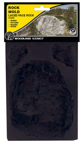 Woodland Scenics C1235 Terrain System Laced Face Rock Mold