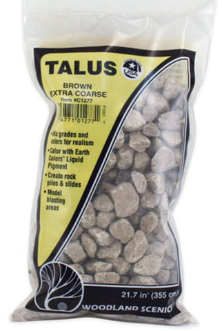 Woodland Scenics C1277 Extra Coarse Brown Talus Rock 21.6 Cubic Inch Bag