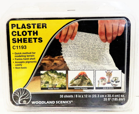 Woodland Scenics C1193 Sub Terrain System Plaster Cloth Sheets
