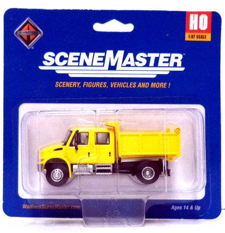 HO Scale Walthers SceneMaster 949-11632 International 4300 Crew Cab Dump Truck