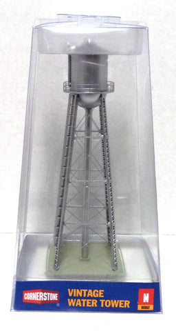 N Scale Walthers Cornerstone 933-3833 Silver Assembled Vintage Water Tower