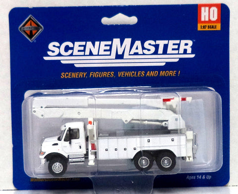 HO Scale Walthers SceneMaster 949-11754 International 7600 Utility Company Truck w/Bucket Lift