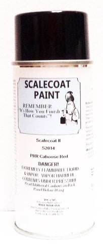 Scalecoat II S2014 PRR Pennsylvania Caboose Red 6 oz Paint Enamel Spray Can