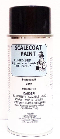 Scalecoat II S2012 Tuscan Red 6 oz Paint Enamel Spray Can
