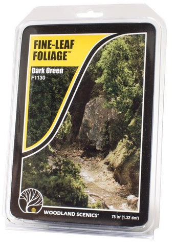 Woodland Scenics F1130 Fine-Leaf Foliage Dark Green 75 in3 (1.22 dm3)