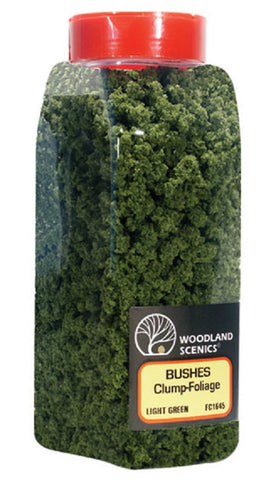Woodland Scenics FC1645 Light Green Bushes Shaker 57.7 cu in (945 cu cm)