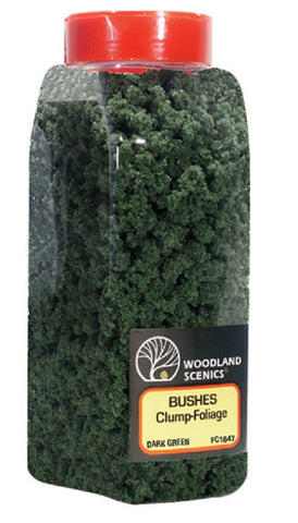 Woodland Scenics FC1647 Dark Green Bushes Shaker 57.7 cu in (945 cu cm)
