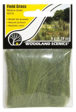 Woodland Scenics FG174 Medium Green Field Grass 8g