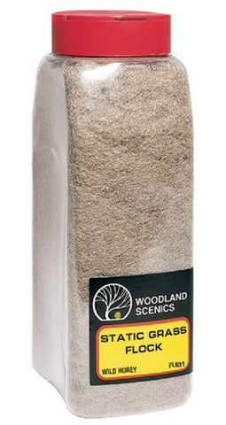 Woodland Scenics  FL631 Wild Honey Static Grass Flock Shaker 57.7 cu in (945 cu cm)