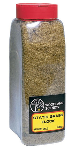 Woodland Scenics  FL632 Harvest Gold Static Grass Flock Shaker 57.7 cu in (945 cu cm)