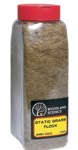 Woodland Scenics FL633 Burnt Static Grass Flock Shaker 57.7 cu in (945 cu cm)
