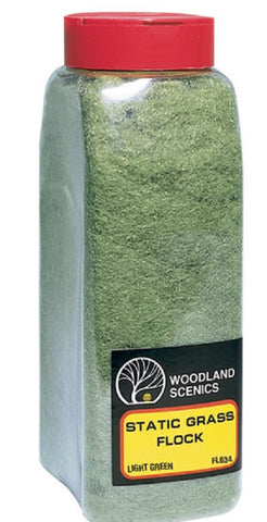 Woodland Scenics FL634 Light Green Static Grass Flock Shaker 57.7 cu in (945 cu cm)
