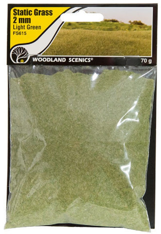 "Woodland Scenics FS615 Field System Static Grass Light Green 1/16"" 2mm Fibers"