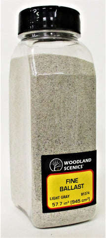 Woodland Scenics B1374 Light Gray Fine Ballast Shaker 57.7 cu in (945 cu cm)