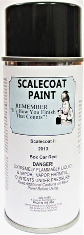 Scalecoat II S2013 Boxcar Red 6 oz Paint Enamel Spray Can