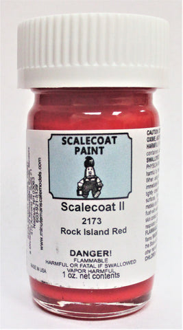 Scalecoat II S2173 Rock Island Red 1 oz Enamel Paint Bottle