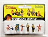 HO Scale Woodland Scenics A1853 Sun Bathers Figures (8) pcs
